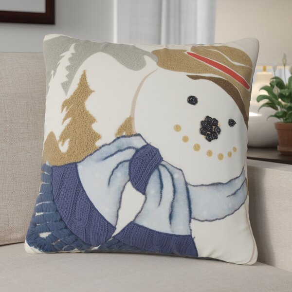 Snowman 100% Cotton Throw Pillow by The Holiday Aisle